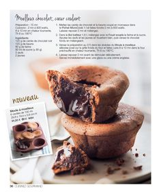 Tupperware France—page 36 Tupperware Recipes, Breakfast Dessert, Pastry Cake, Mini Desserts, I Love Food, Cooking Time, Cooking Recipes, Sweet Recipes, Yummy Treats