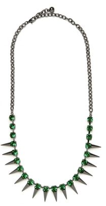 emerald ~ pantone's color of the year!  Spikes are becoming rather popular as well! Check these out: http://www.eurekacrystalbeads.com/catalog/spikes-czech-glass