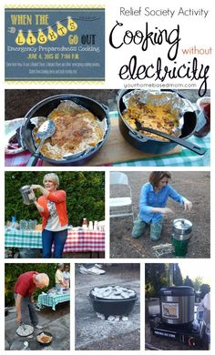 Cooking without electricity. Great tips for your camping trips this summer!