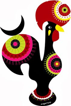 The iconic portuguese rooster - Galo à quinta Arte Do Galo, I Miss My Family, Sea Activities, Portuguese Culture, Rooster Art, Western World, My Roots, Art Graphique, Dot Painting