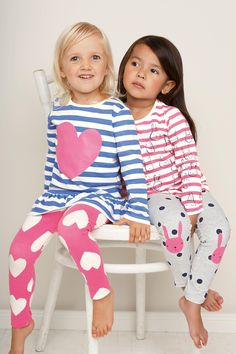 Buy Two Pack Heart Bunny Tunic Leggings Pyjamas from the Next UK online shop Kids Nightwear, Girls Sleepwear, Cotton Sleepwear, Sleepwear Sets, Kids Fashion Show, Fashion Design For Kids, Baby Girl Pajamas, Baby Girls, Kids Pjs