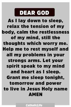 Powerful Prayer Before Sleep Powerful Prayer Before Sleep Prayer Scriptures, Bible Prayers, Faith Prayer, God Prayer, Prayer Quotes, Power Of Prayer, Bible Verses Quotes, Faith Quotes, Spiritual Quotes