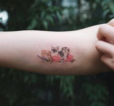 These tiny whimsical designs of your beloved pets are simple, stylish and elegant, capturing something significant and representative for you. Quite simply, they're tattoos of good taste. Tribal Tattoos, Dog Tattoos, Mini Tattoos, Trendy Tattoos, Black Tattoos, Body Art Tattoos, Small Tattoos, Tattoos For Guys, Tattoos For Women