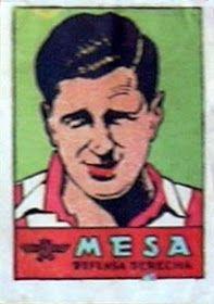 Mesa. Atlético de Madrid. 1941-42. Cromos Bruguera. Defensa derecha reserva.