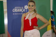 Erika da Silva desfilou sua beleza na passarela do Hospital da Criança de Brasília José Alencar (HCB).