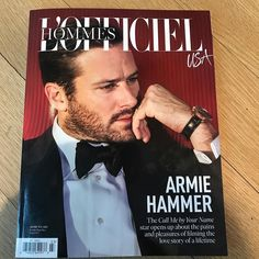 Der Stefashionist: Fashion, Passion & Models: The #CallMeByYourName star Armie Hammer covers L'Officiel Hommes USA #1