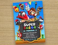 Super Mario Odyssey Invitation Super Mario Invitation Odyseey