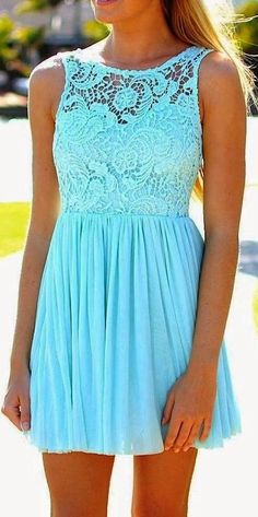 Blue dress for summer