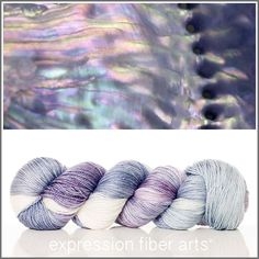 Expression Fiber Arts, Inc. - MOTHER OF PEARL 'LUSTER' SUPERWASH MERINO TENCEL SPORT, $24.00 (http://www.expressionfiberarts.com/products/mother-of-pearl-luster-superwash-merino-tencel-sport.html)