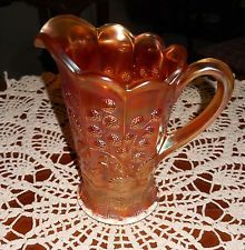 CARNIVAL GLASS NORTHWOODS PITCHER RASEBERRY  MOTIF