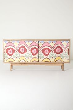 Handpainted Ikat Console - Anthropologie.com - I need this even if I have no where to put it!