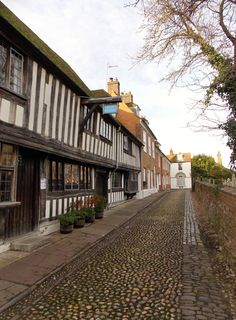 The cobbled streets of the Citadel in Rye, East Sussex, England, By B Lowe