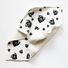 Baby Security Blanket With Pug Print Organic Cotton Baby Lovey Baby Snuggle Blanket Baby Shower Gift For Dog Lover Size Baby Snuggle Blanket, Baby Security Blanket, Dog Lover Gifts, Dog Gifts, Black And White Dog, Baby Lovey, Organic Baby Clothes, Baby Prints, Baby Bodysuit