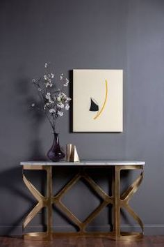 Borlenghi White and Grey Marble Console - Mecox Gardens #interiordesign #home #decor #design #MecoxGardens