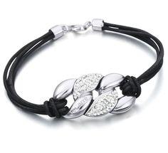 Pulsera de cuero y Plata de 1ª Ley Recubierta de Rodio #joyería #pulsera #plata #jewelry #bracelet #silver