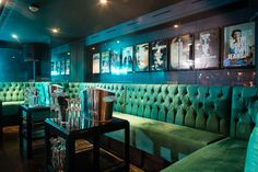 Custom Made Banquette Seating Made by Zinc Interiors for Drama Nightclub, Mayfair London.