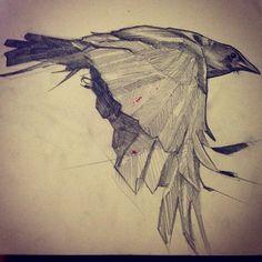 Crow in me journal. #crow #bird #drawing #sketchbook #sketch #pencil #illustration