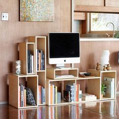 1.Simple. Sleek. The Mix Boxes can be arranged to make your own media unit as side tables book storage—you name it!