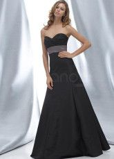 Satin Long Bridesmaid dress with sash