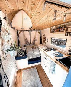 Van Conversion Interior, Camper Van Conversion Diy, Van Interior, Astuces Camping-car, Build A Camper Van, Kombi Home, Bus Living, Bus House, Tiny House