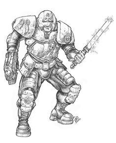 Adeptus Arbites - Enforcer - Necromunda - Warhammer 40K - GW by Robban-O