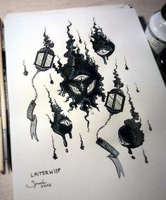 INKTOBER #4 - Laiterwisp