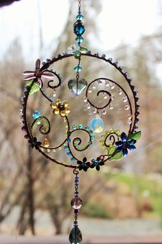 In the Garden Sun Catcher by AuroraLightsJewels on Etsy