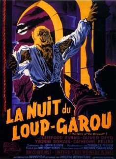 French poster for CURSE OF THE WEREWOLF (1961)  Directed by Terence Fisher  Starring Oliver Reed