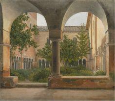 The Cloisters of San Lorenzo Fuori le Mura in Rome Christoffer Wilhelm Eckersberg - 1814-1816
