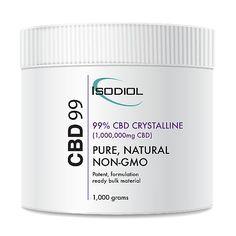 Cristales Isodiol CDB 99% 1kg. Cristales Isodiol CDB99 PUROS Como la fuente más grande de CDB aceite de cáñamo en todo el mundo, en Isodiol estamos orgullosos de ofrecer los cristales de la CDB de la más alta calidad, desde la semilla hasta terminar CDB aislar el producto.