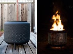 The washing-machine-drum firepit: