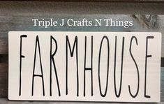 Farmhouse Wooden Sign, Rae Dunn Inspired Sign, Wreath AttachmentFarmhouse Sign, Wood Signs, Custom W Barn Wood Signs, Custom Wood Signs, Wooden Signs, Diy Signs, Wall Signs, J Craft, Farmhouse Signs, Farmhouse Decor, Rustic Country Kitchens