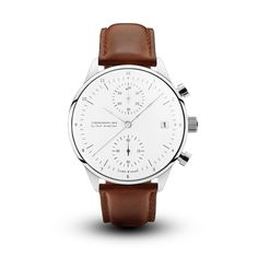 Buy 1844 Chronograph Brown Strap watch for 349,00 USD from About Vintage. The watch is carefully designed with quality materials and sapphire glass..