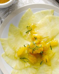 Ananascarpaccio met mangodressing #15gram