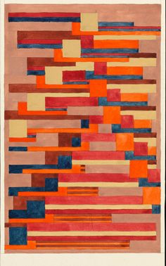 Léna Bergner, Carpet Design, ca. 1925 – 1932 Gouache and graphite on paper. The Getty Research Institute, © Heirs of Léna Bergner Joseph Albers, Ranch, Laszlo Moholy Nagy, Wall Text, Teaching Aids, Publication Design, Paul Klee, Color Studies, Wassily Kandinsky
