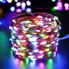 Nowy 10 M Drut miedziany Łańcuch Światła 3AA Zasilanie Bateryjne LED Kryty Odkryty Fairy Światła Led dla Xmas Garland Party ślub