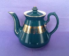 A personal favorite from my Etsy shop https://www.etsy.com/ca/listing/521461921/hall-green-gold-filigree-band-teapot