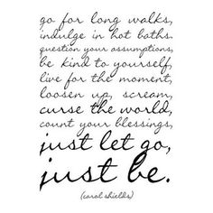 just. let. go.