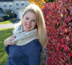 Chunky Infinity Scarf - made by Caring Cowls - discount!