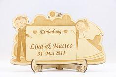 Laser-Cut Invitation Engraved Wedding Invitation by AniriArt