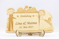 Laser-Cut Invitation Engraved Wedding Invitation by AniriArt
