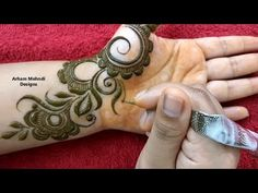 New Stylish Mehndi Design for Front Hand || Easy Simple Mehndi Design || Arham Mehndi Designs - YouTube
