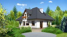 DOM.PL™ - Projekt domu Dom przy Sielskiej 2 CE - DOM EB2-85 - gotowy koszt budowy Home Fashion, Gazebo, House Plans, Outdoor Structures, House Design, Cabin, Mansions, House Styles, Mica