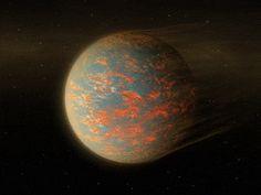Etudier avec le télescope spatial Spitzer, la super-Terre 55 Cancri e, située à environ 40 années-lumière, ressemble à l'enfer. Il ferait environ 2 400°C...