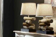 Preciosas lámparas de sobremesa DIY, luz auxiliar prefecta para decoración rústica.