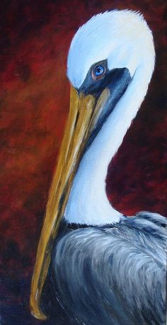 Elaines Pelican Painting - Elaines Pelican Fine Art Print
