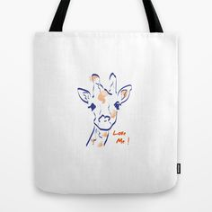Girafe-Love me Tote Bag by 1 monde à part - $22.00