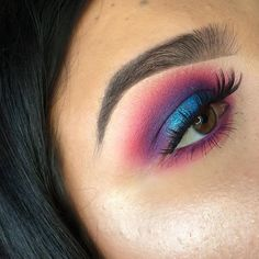 pink & purple & blue smokey glam | makeup // pinterest: joiespooks