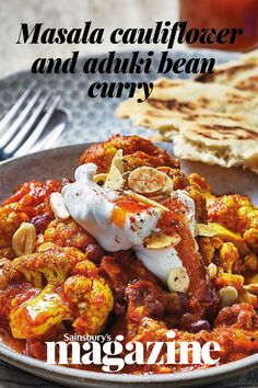 Boost your veg intake with our 3-of-your-5-a-day curry. Aduki beans have a sweet, nutty flavour that pairs well with the warming spice. Get the Sainsbury's magazine recipe Cauliflower Curry, Roasted Cauliflower, Magazine Recipe, Spiced Almonds, Best Curry, Wellington Food, Easy Family Meals, Curries, Curry Recipes