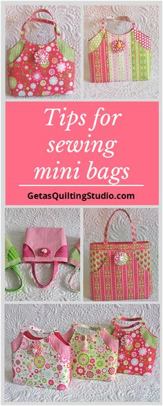 Tips and tricks for sewing mini bags- the best gifts to sew for little girls.
